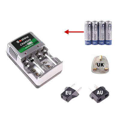 AA AAA Ni-MH PMP MP3 MP4 Rechargeable Battery lader
