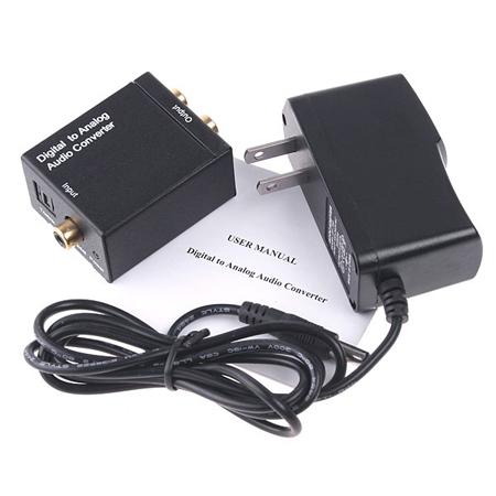 Digital Optical Coaxial to Analog RCA Audio Converter