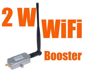 Stronger 2W/333DBm WiFi 802.11b/g Booster Amplifier