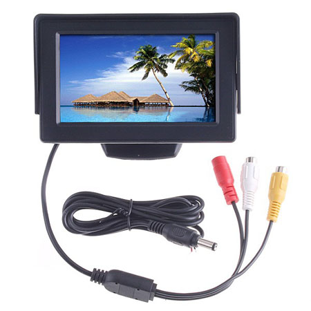 4.3inch TFT LCD Car Reverse RearView Color Monitor DVD VCR