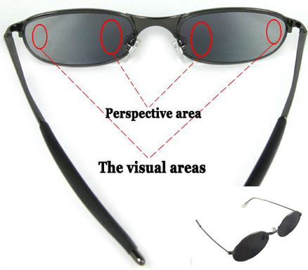 Rear View Rearview Behind Spy Sunglasses Monitor Mirror