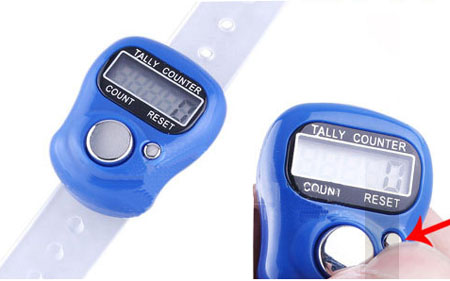LCD Electronic Digital 5 Digit Ring Tally Counter Golf