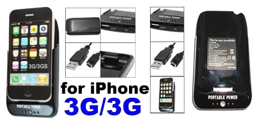 iPhone 3GS 3G Portable Battery Power Station lader