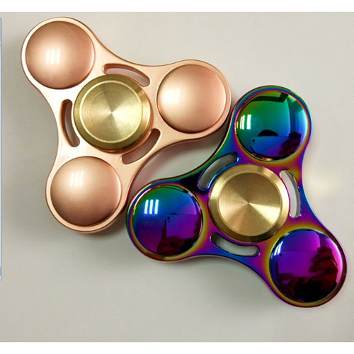 Fidget Spinner Toy For Relieving ADHD Anxiety Boredom EDC Tri-Spinner Fidget Toy Smooth Surface Finish Ultra Durable