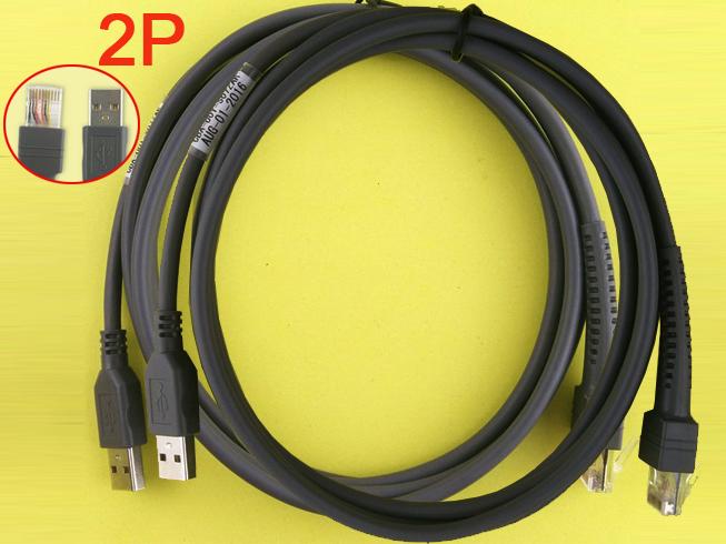2pcs CBA-U01-S07ZAR 7ft 2M USB CABLE voor MOTOROLA Symbol   LS2208AP LS1203 LS4208(Barcode Scanner)