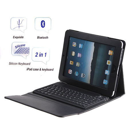 Wireless Bluetooth Keyboard Leather Cover Case For iPad