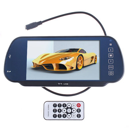 7inch TFT LCD Color Car Rearview Monitor W/ SD USB MP5 FM