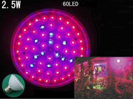 2.5W 60LED plant growth lights
