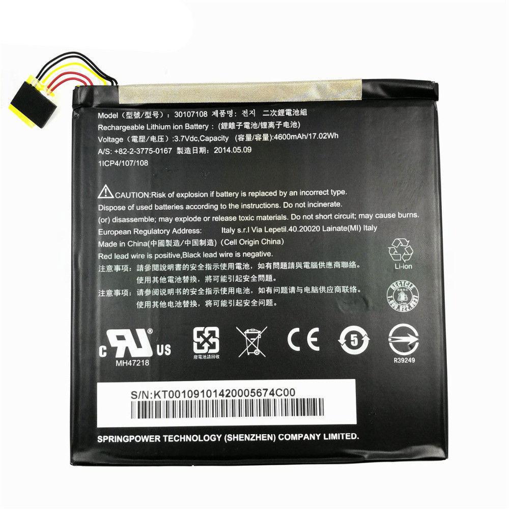30107108 Tablet accu