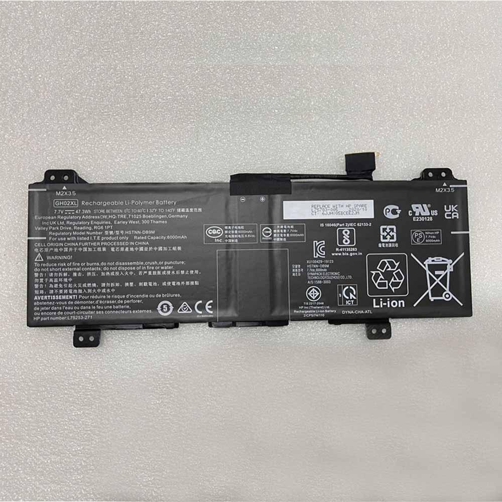 GH02XL laptop accu's
