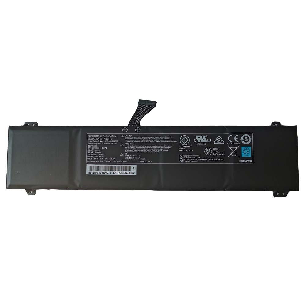 GLIDK-03-17-3S2P-0 8000mAh/91.2Wh 11.4V/13.05V laptop accu