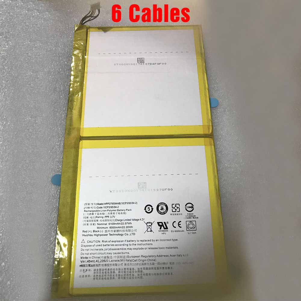 HPP279594AB 6100mAh 3.7V laptop accu