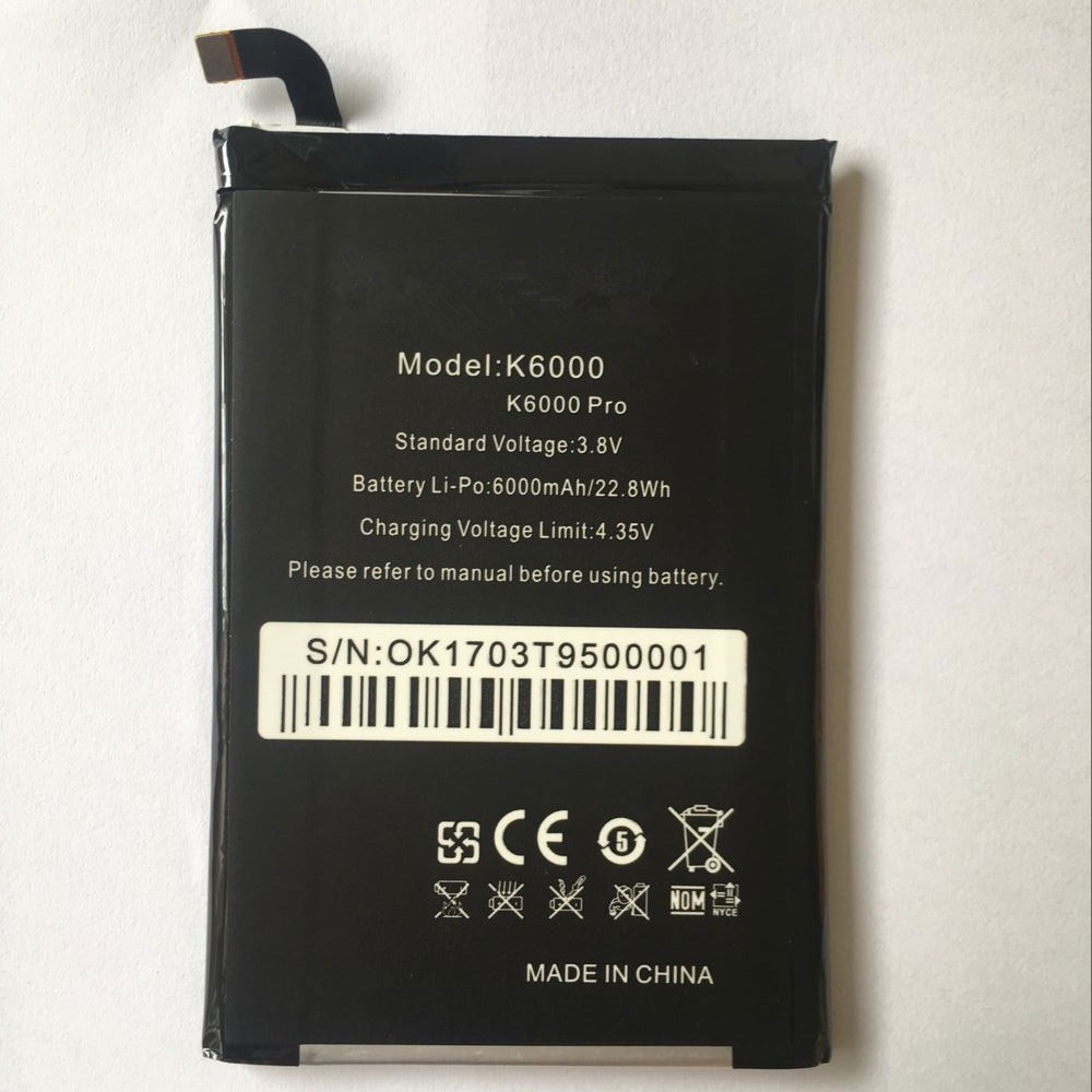 K6000 6000mAh/22.8WH 3.8V/4.35V laptop accu