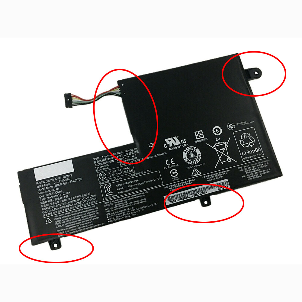 L15M3PB0 laptop accu's