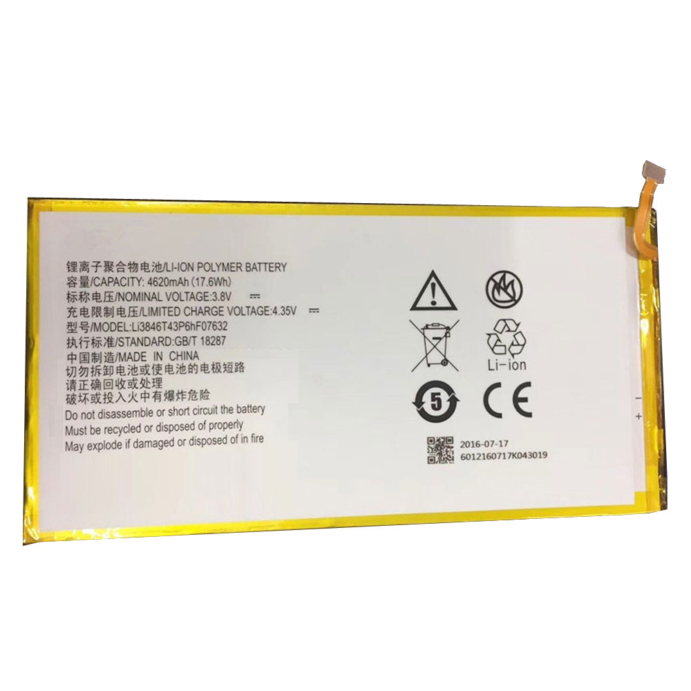 li3846t43p6hf07632 Tablet accu