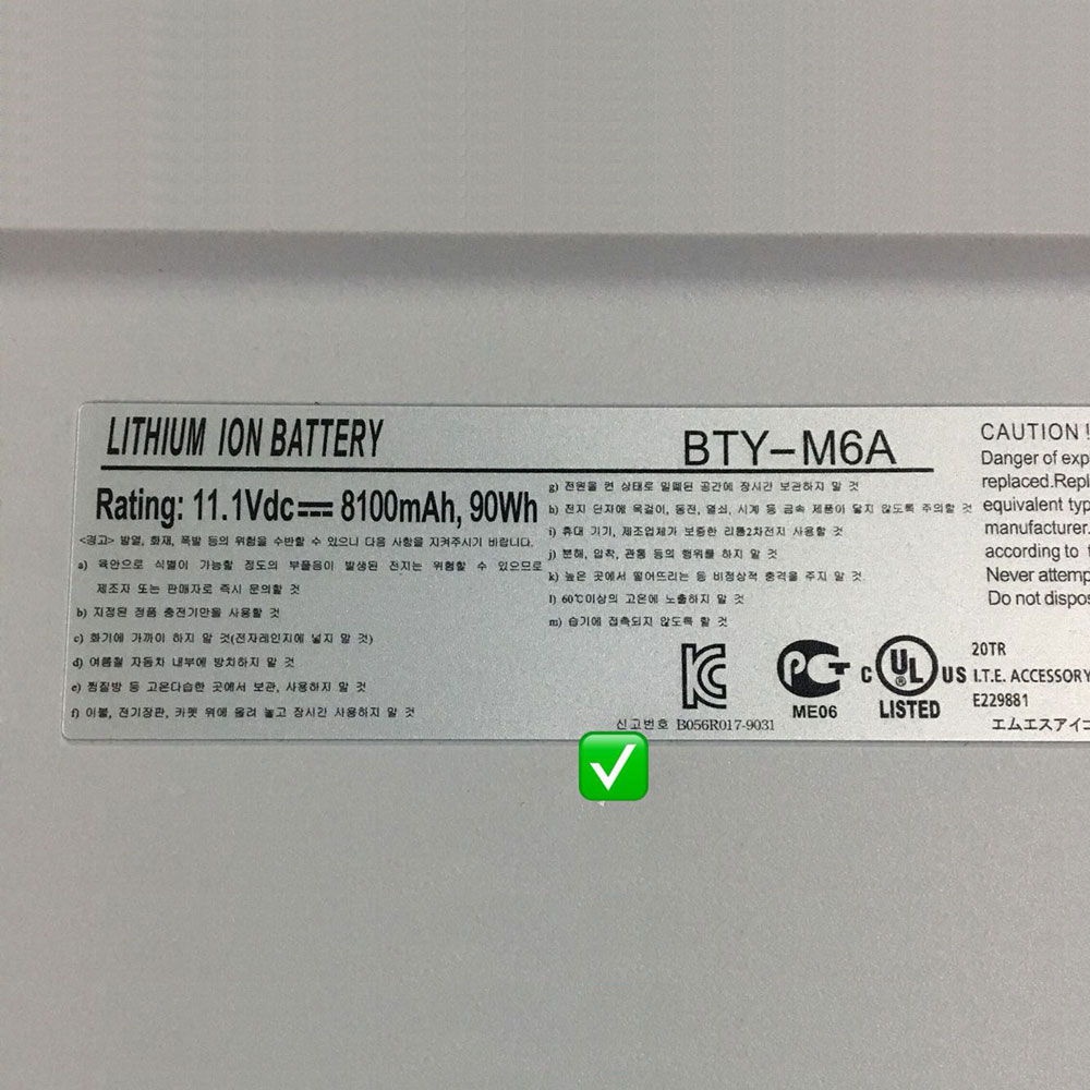 bty-m6a laptop accu