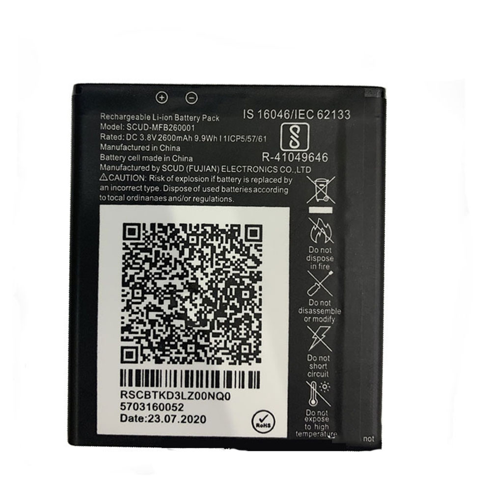 SCUD-MFB260001 2600mAh/9.9WH 3.8V laptop accu