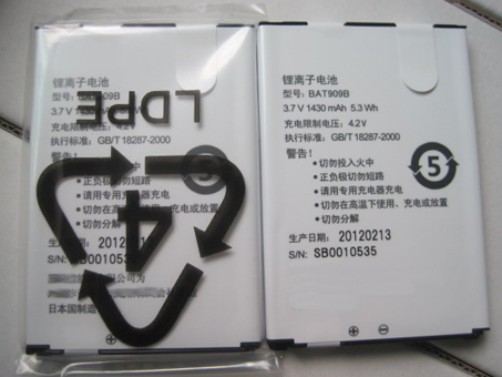 BAT909B 1430mAh 3.7DVC laptop accu