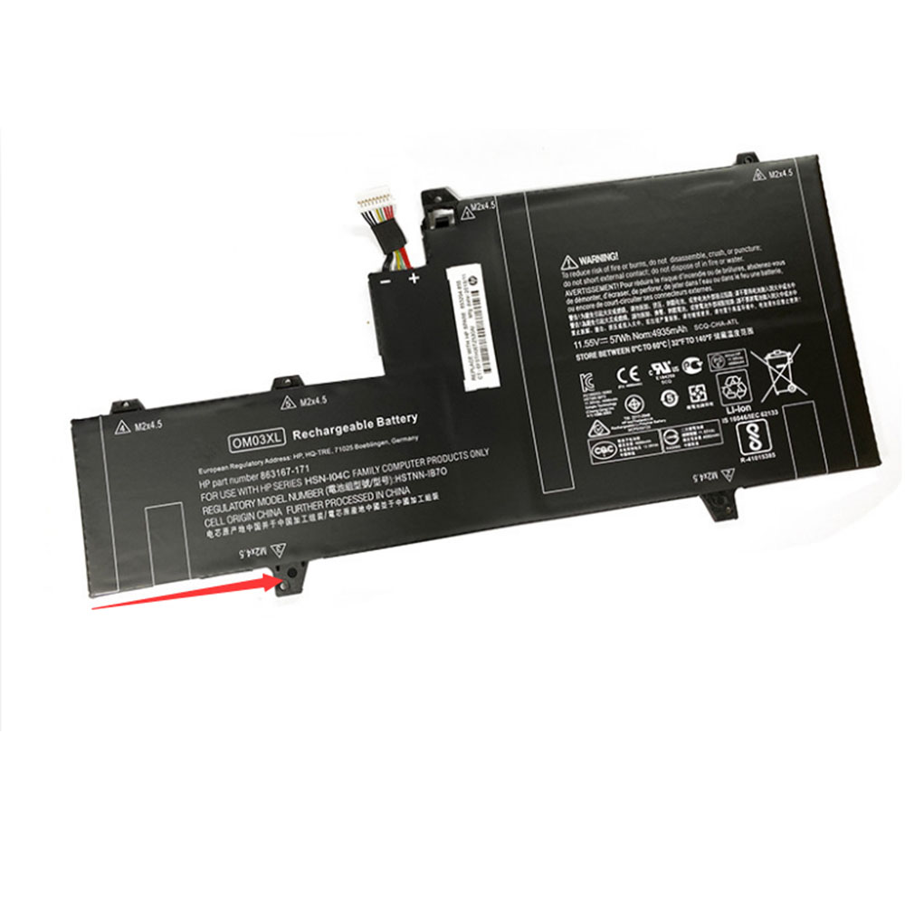 OM03XL 57Wh 11.55V laptop accu