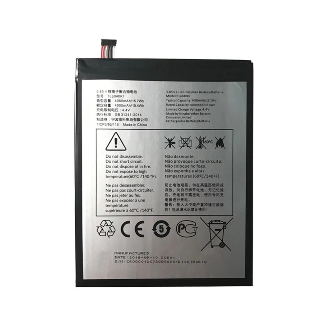 TLp040K7 batterij