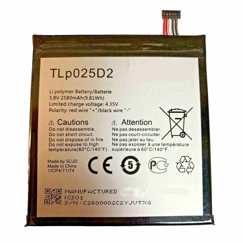 TLp025D2 Telefoon Accu's