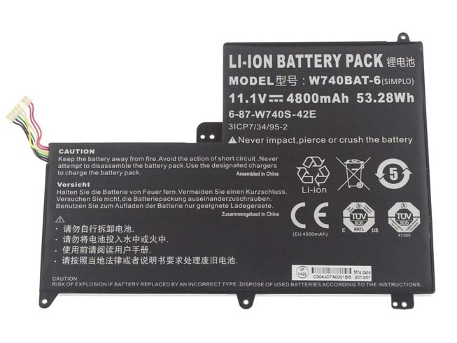 W740BAT-6 laptop accu's